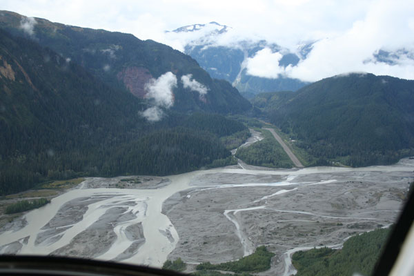 Iskut river and floodplain