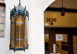Lamp at The Sealfield Apartments