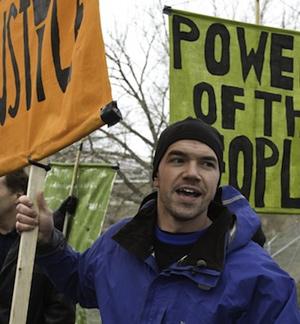 Climate change activist Tim DeChristopher