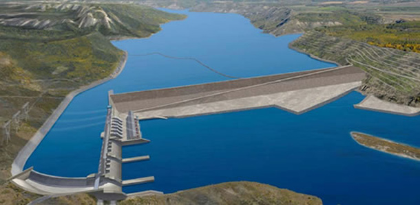 Artist's rendition of Site C dam