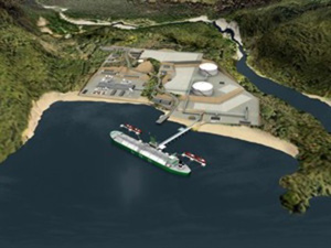 Kitimat natural gas export terminal