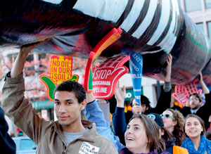 Keystone XL pipeline protest in Washington, D.C.