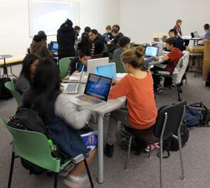 Students at John Oliver Digital Immersion Minischool