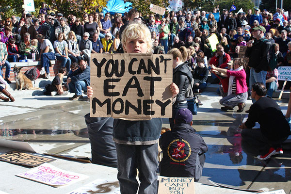 You Can't Eat Money, Occupy photo