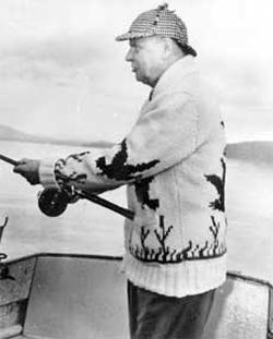 John Diefanbaker fishing