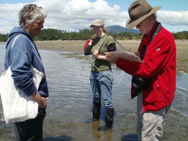 Nikki Wright, eelgrass, Dr. Colin Campbell, Pat Bay, British Columbia