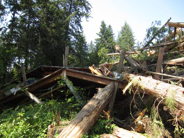 Johnsons Landing home crushed by the slide