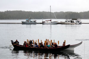 Paddlers in Shearwater