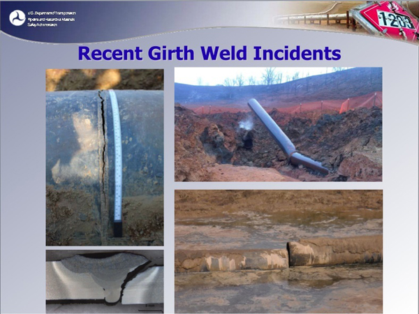 Girth weld incidents