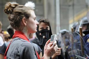 G20 protestor