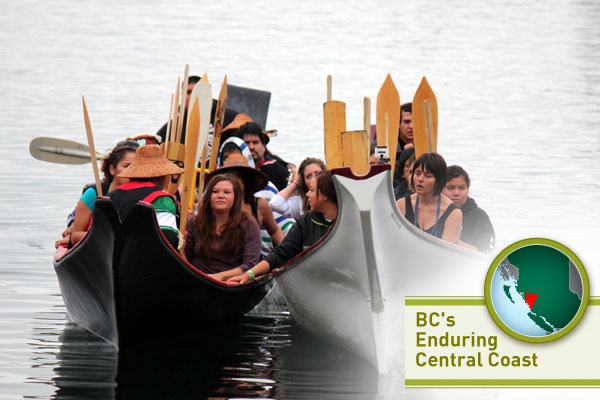 Heiltsuk canoes at Joint Panel Review