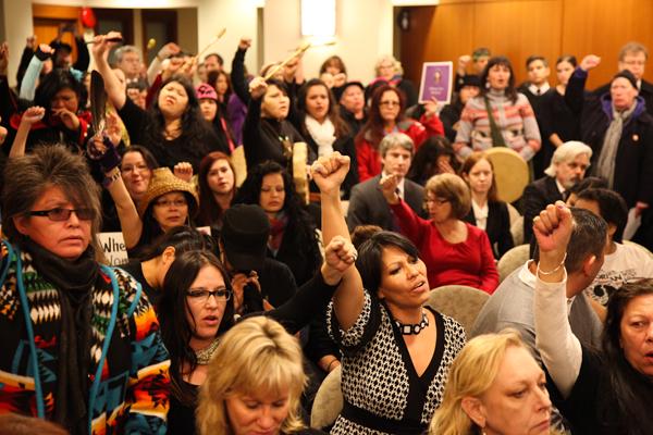 Women at Oppal speech