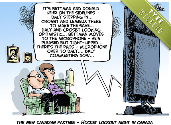 Hockey Lockout cartoon