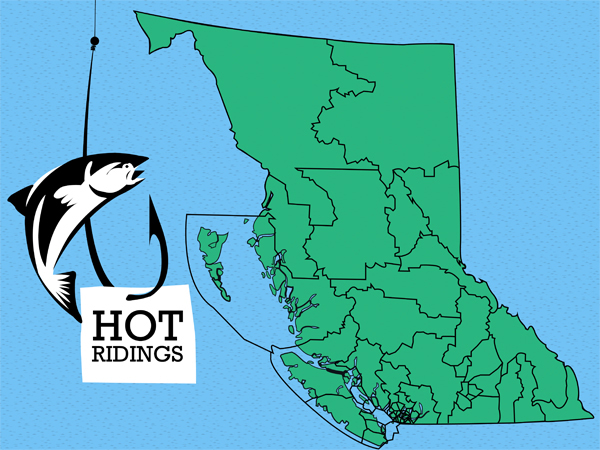 BC 'Hot Ridings'