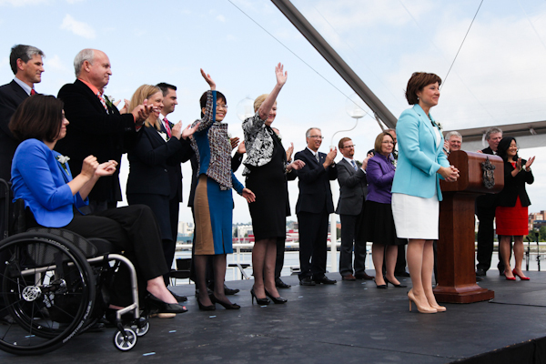 Premier Christy Clark and her cabinet, 2013