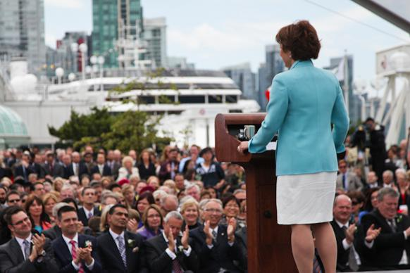 582px version of Christy Clark at cabinet announcement, 2013