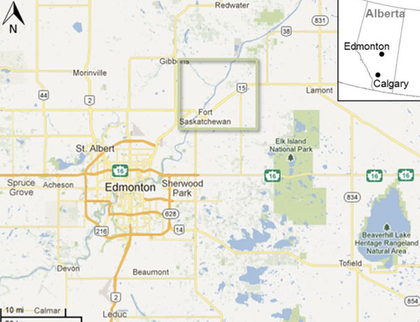 Alberta's Upgrader Alley region