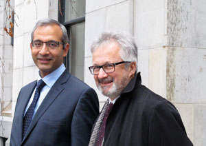 Mukhtar Latif and Geoff Meggs