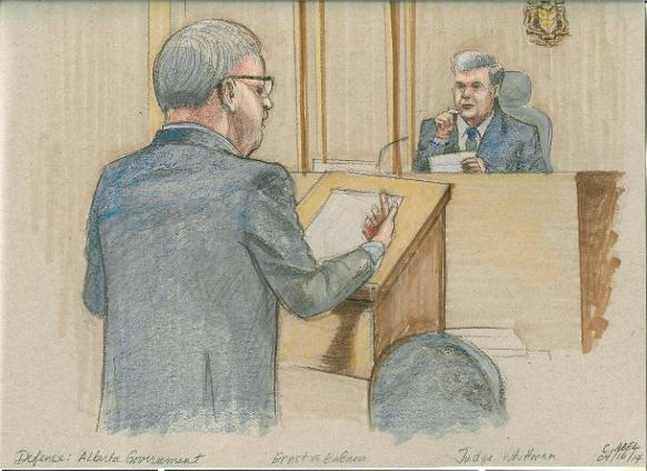 582px version of Court sketch, Ernst v. Alberta Government