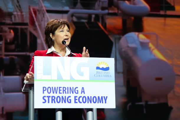 Christy Clark at BC LNG conference