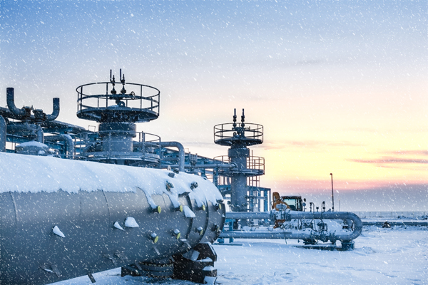 Snowy natural gas