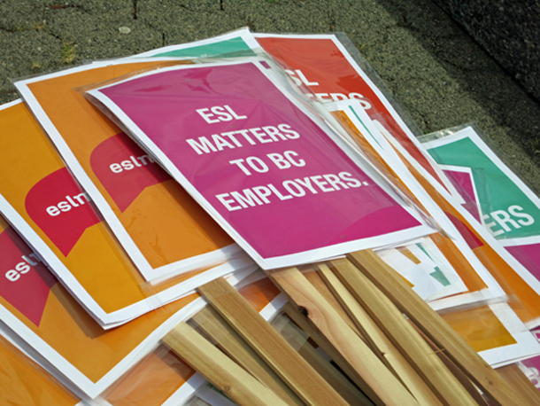 'ESL matters' signs