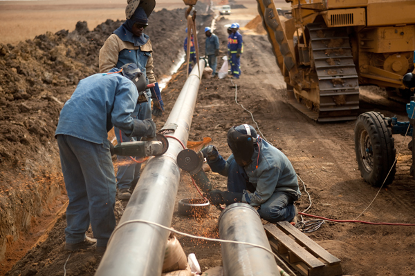 Image result for Pipeline Workers)   DANGEROUS Jobs In China!