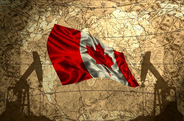 Canada oil map