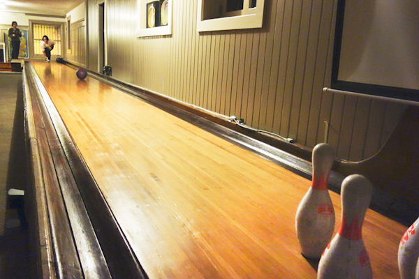 Mansion bowling alley