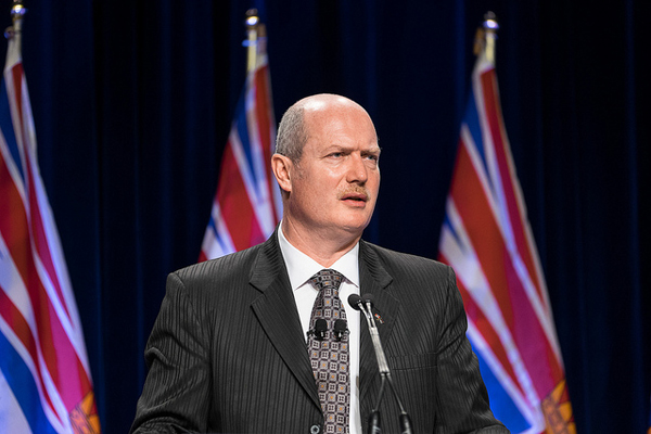 Finance Minister Mike de Jong presents the 2015 BC budget