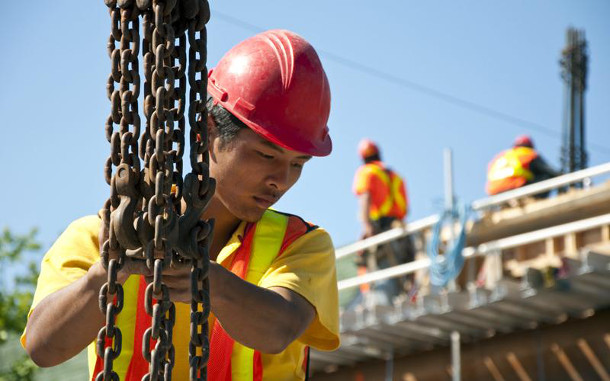 Foreign worker at an Ottawa construction site