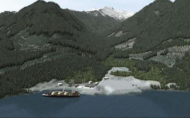 Woodfibre LNG rendering