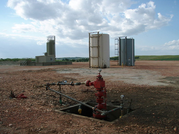 Fracking well head