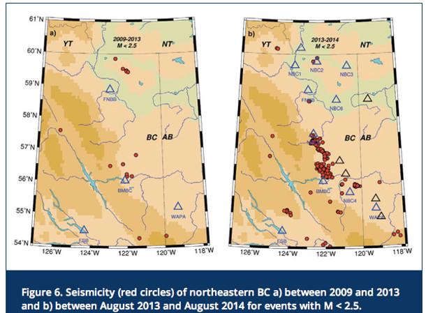 Seismicity in NEBC