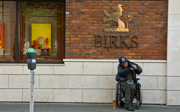 Man outside Birk's
