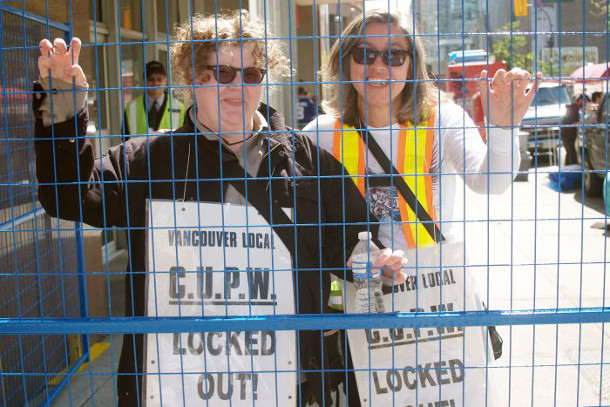 Locked out Vancouver postal workers, 2011