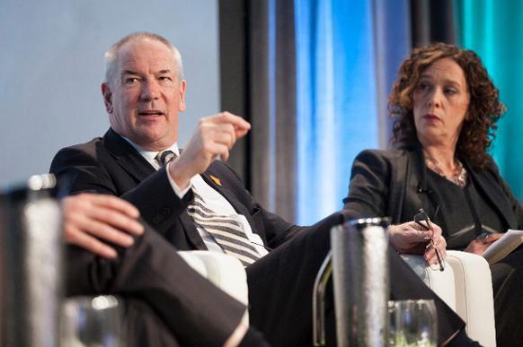 582px version of CEO Steve Williams and environmental author Tzeporah Berman