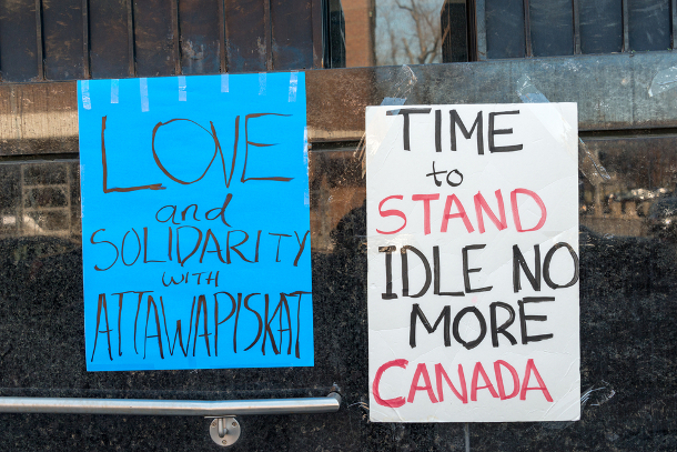582px version of Idle No More signs