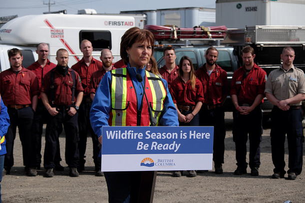 Christy Clark in Prince George