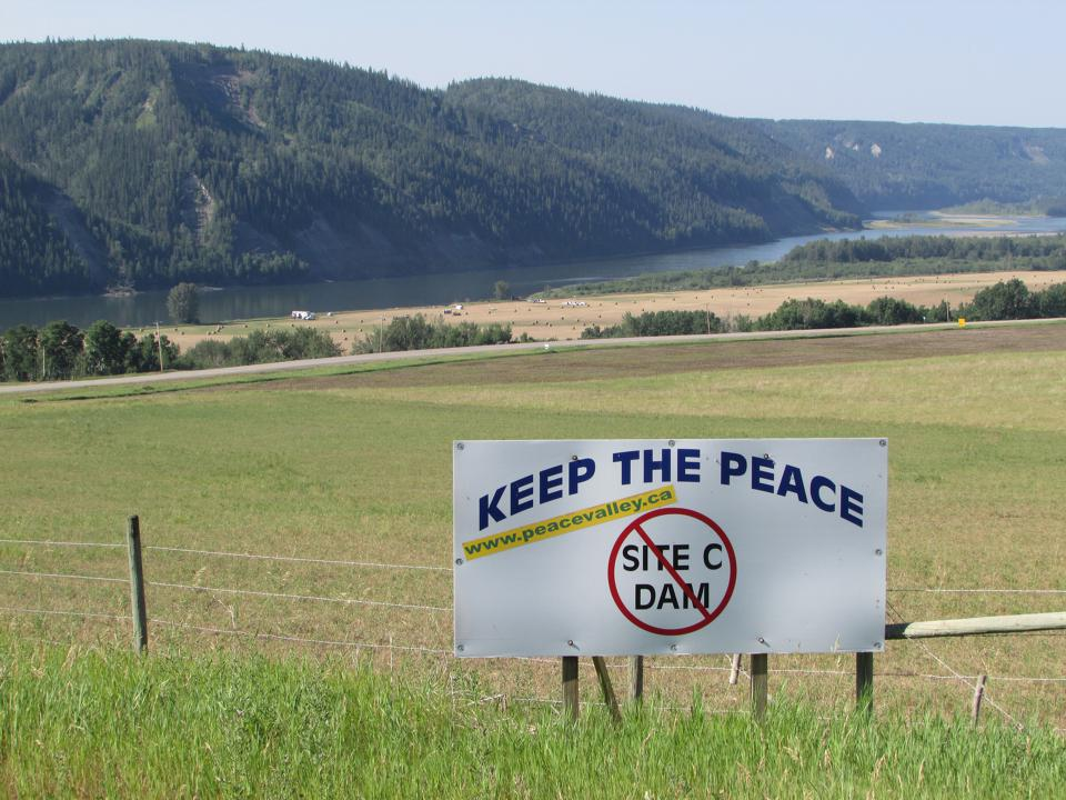 960px version of Site C dam protest sign