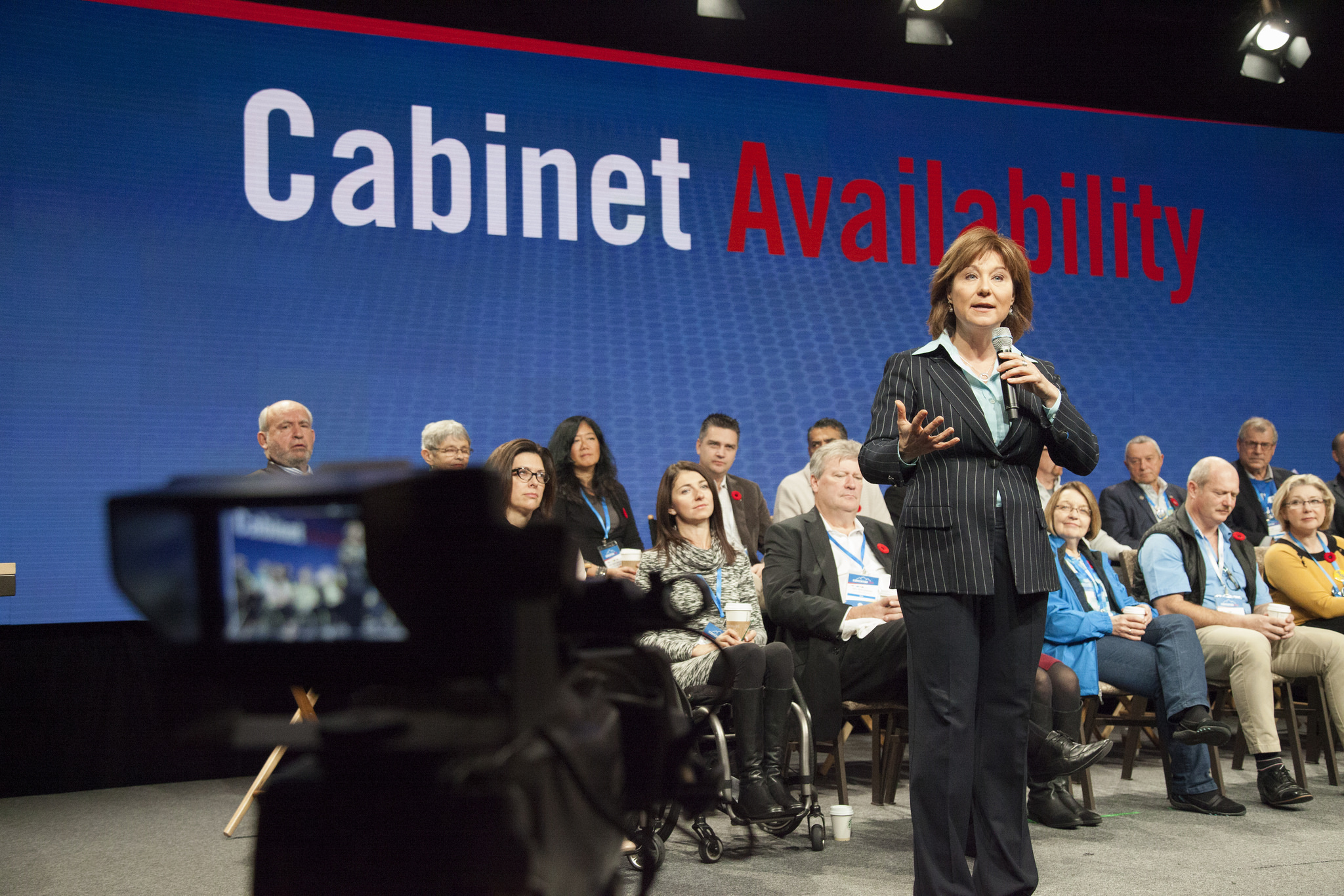 Christy Clark and cameras