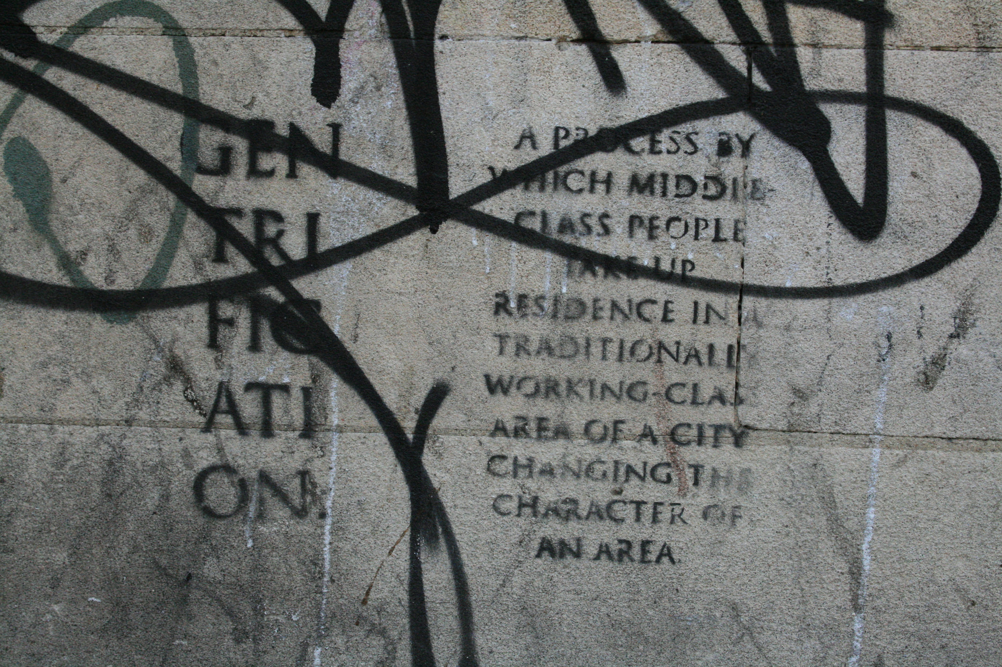 851px version of Gentrification graffiti