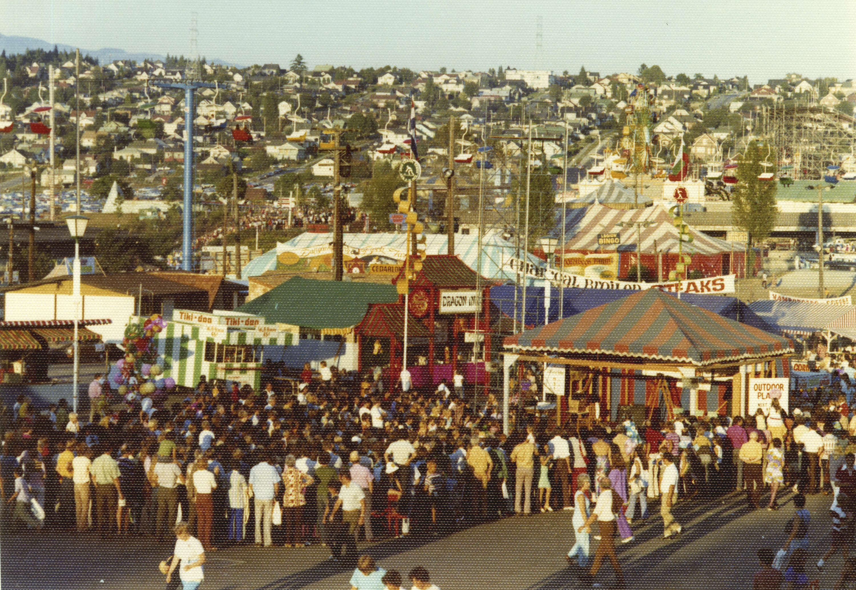 851px version of Pacific National Exhibition (PNE) fairgrounds in the 1970s
