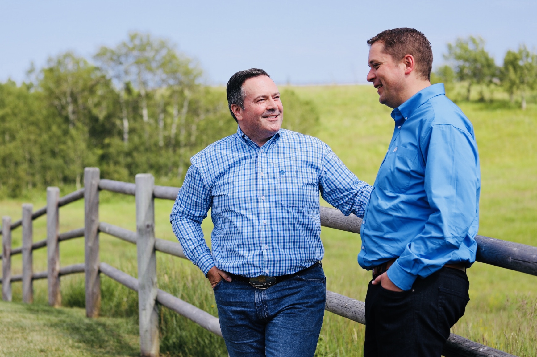 Jason Kenney with Andrew Scheer
