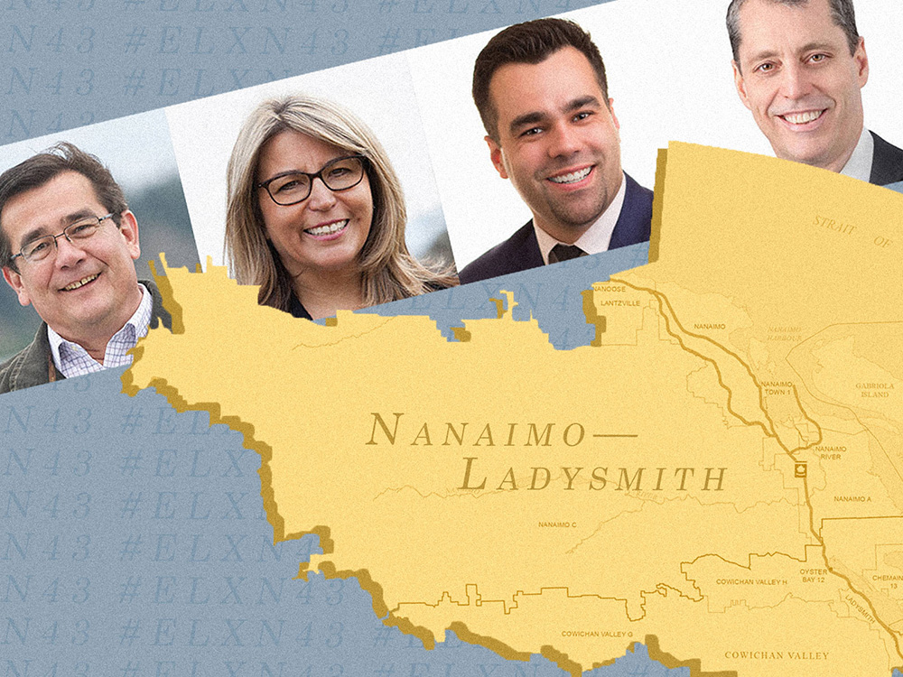 In Nanaimo-Ladysmith, an Election Race that's Typical BC: A Four-Way Fight