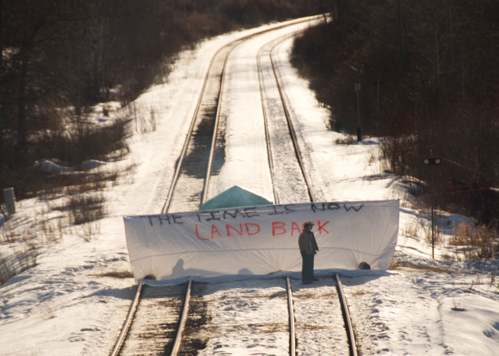 Gitxsan Nation Rail Blockade