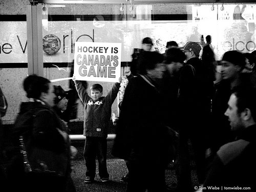 Olympics, hockey, fan, child