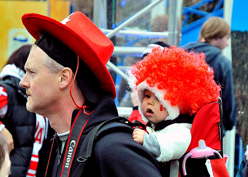Olympics, cowboy hat, baby, fans