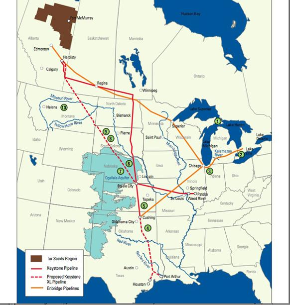 582px version of NRDC map of Keystone pipeline, U.S.