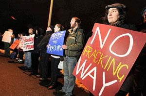 Protest against fracking